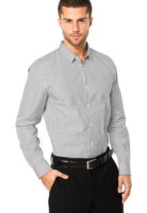 Camisa Calvin Klein Jeans Mini Tag Preto/Branco