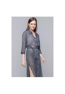 Vestido Chemise 101 Resort Wear Midi Evase Crepe Estampado Floral Pb