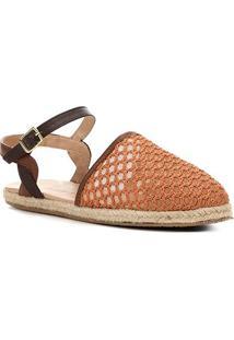 Sapatilha Shoestock Tricot Corda Feminina - Feminino-Marrom Claro