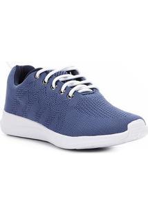 Tênis Shoestock Tricô Feminino - Feminino-Azul