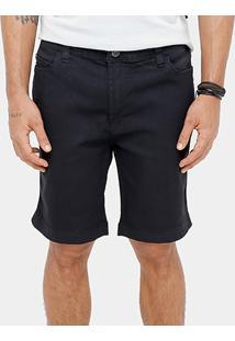 Bermuda Ellus Storm Elastic Black Slim Fit Masculina - Masculino