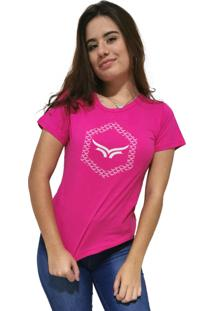 Camiseta Feminina Cellos Hexagonal Premium Azul Claro