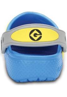 Crocs Funlab Infantil Minions Clog Masculino - Masculino-Azul