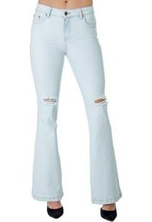 Calça Jeans Flare Alphorria Feminina - Feminino-Jeans