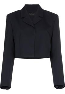 Low Classic Blazer Cropped - Azul