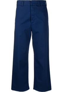 Department 5 Cropped Loose-Fit Trousers - Azul