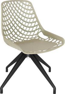 Cadeira De Cozinha Giratória Beau Design Cappuccino E Preta