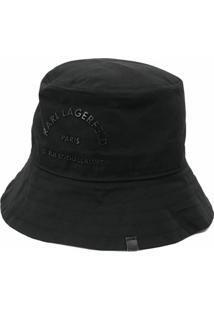 Karl Lagerfeld Chapéu Rue St Guillaume Com Fivela - Preto