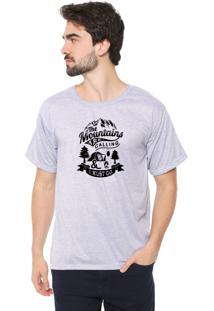 Camiseta Eco Canyon I Must Go Cinza