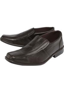Sapato Couro Clauss Básico Marrom