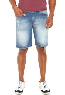 Bermuda Jeans Enfim Estonada Azul