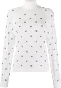 Fendi High Collar Pullover - Branco