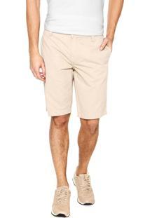 Bermuda Sarja Calvin Klein Jeans Chino Bege