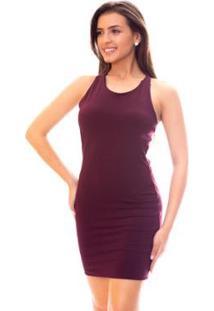 Vestido Moda Vicio Com Bojo E Amarração Costas Feminino - Feminino