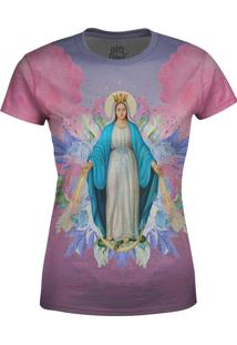 Camiseta Estampada Baby Look Over Fame Santa Maria Floral