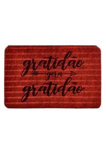 Capacho Carpet Gratidáo Gera Gratidáo Vermelho Único Love Decor