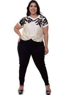 Blusa Detalhe Torcido Almaria Plus Size Mais Na Mo