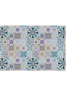 Tapete Transfer Azulejos- Azul & Branco- 60X40Cmtapetes Junior