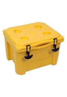 Caixa Térmica Cooler 15 Litros Amarelo Brudden Náutica