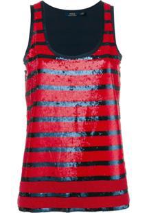 Polo Ralph Lauren Regata Listrada Com Paetês - Vermelho