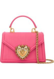 Dolce & Gabbana Bolsa Devotion Pequena - Rosa