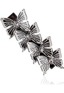 Presilha Giullia Ferraz Store Butterfly Giullia Ferraz Store - Feminino-Cinza