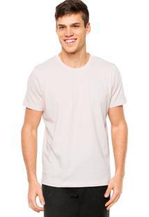 Camiseta Manga Curta Colcci Slim Nude