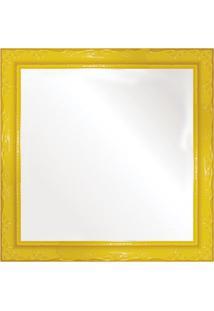 Espelho Brilho Rococo Amarelo 31X31Cm
