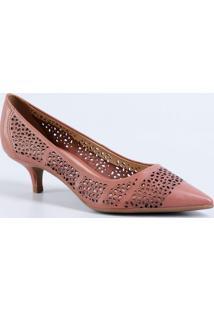 0b27c75185 Scarpin Recorte Textura feminino
