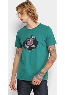 Camiseta Colcci Disco Music Masculina - Masculino-Verde