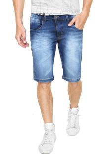 Bermuda Jeans Rock&Soda Skinny Estonada Azul