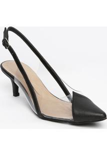 8153755254 ... Sapato Chanel Com Recortes- Incolor   Preto- Salto  Iódice
