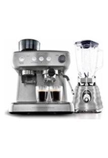 Kit Cafeteira Espresso Xpert E Liquidificador Osterizer Aco Escovado - 127V