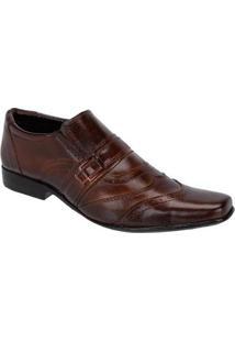 Sapato Social Leoppé Masculino Em Couro - Masculino-Marrom