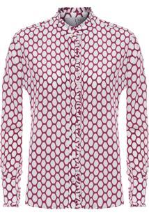 Camisa Feminina Básica Imperial Estampada - Vinho