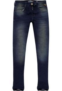 Calça Jeans Khelf Skinny Masculina Stretch Jeans Delave Azul