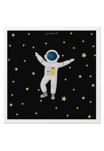 Quadro Astronauta 38Cm Gráo De Gente Azul