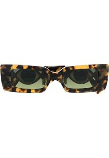 Etnia Barcelona Ignasi Eye-Motif Oversized Sunglasses - Marrom