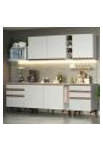 Cozinha Completa Madesa Reims 260006 Com Armário E Balcão - Branco