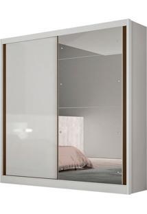 Guarda-Roupa Casal Com Espelho Thor Gold 2 Pt Branco