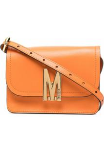 Moschino Bolsa Transversal M Com Logo - Laranja