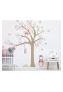 Adesivo De Parede Infantil Árvore Baby Coruja
