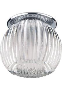 Spot Embutir Redondo Cristal 7,5Cmx9Cm 40W G9 Bella Iluminação Caixa Com 3 Unidade Cromado Bivolt