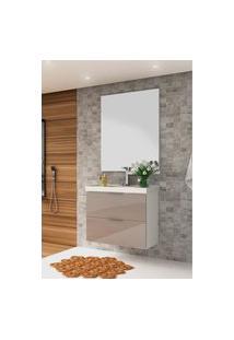 Conjunto P/ Banheiro Pietra Branco/Gianduia Brilho Bosi