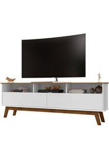 Rack Bancada Para Tv Até 65 Polegadas Elegant Cinamomo/Branco - Bechar