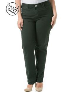 Calça Jeans Plus Size - Confidencial Extra Cotelê Skinny Verde