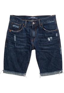 Bermuda John John Classica Minot 3D Jeans Azul Masculina (Jeans Medio, 46)