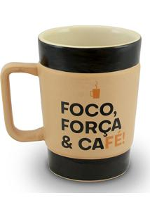 Caneca Coffe To Go-Foco Curta 300Ml-Mondoceram - Pardo