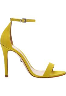 Sandália Gisele Nobuck Yellow | Schutz