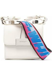 Off-White Bolsa Transversal Binder Clip Mini - Branco